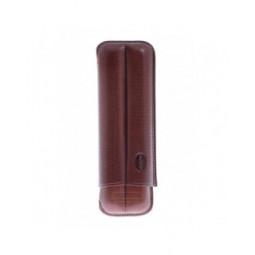 Футляр Jemar на 2 сигары, натуральная кожа \ 110-2-Brown
