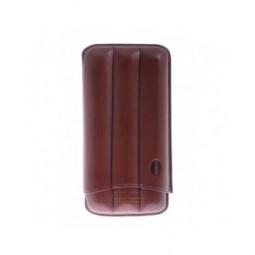 Футляр Jemar на 3 сигары, натуральная кожа \ 110-3-XL-Brown