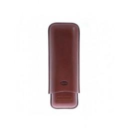 Футляр Jemar на 2 сигары (диаметром до 28 мм), натуральная кожа \ 497-2-Brown