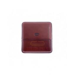Сигаретница Jemar на 10 штук, натуральная кожа, коричневая \ 151-10-Brown