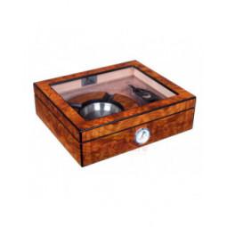 Хьюмидор Lubinski на 25 сигар с подарочным набором, Вяз матовый \ QB309