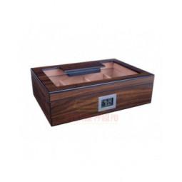 Хьюмидор Lubinski на 50 сигар cо стеклом и магнитными перегородками, Орех \ Q2769
