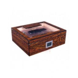 Хьюмидор Lubinski на 60 сигар со стеклом и подарочным набором, Железное дерево \ QB509