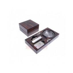 Пепельница сигарная Lubinski с набором, Макассар \ EF2693