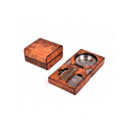 Пепельница сигарная Lubinski с набором, Вяз \ EF2590