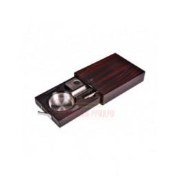 Пепельница сигарная Lubinski с гильотиной и пробойником, Эбеновое дерево \ EF266-1