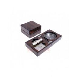 Пепельница сигарная Lubinski с набором, Орех \ EF2691