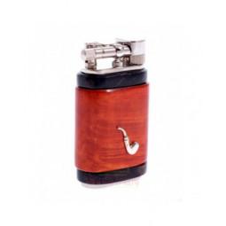 Зажигалка трубочная Mastro de Paja, серебро и бриар \ 1501