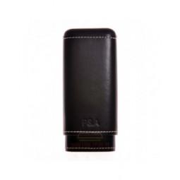 Чехол P&A на 3 сигары Черчилль, натуральная кожа и кедр \ T1067-Black