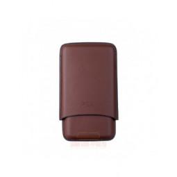 Чехол P&A на 3 сигары Churchill (диаметром до 20 мм), кожа, коричневый \ T369-Brown