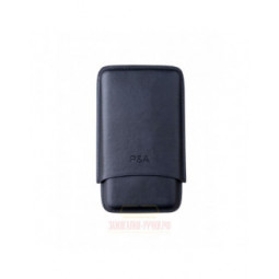 Чехол P&A на 3 сигары Churchill (диаметром до 20 мм), кожа, черный \ T369-Black
