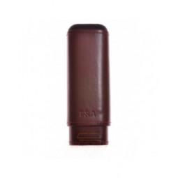 Чехол P&A на 2 сигары Робусто, натуральная кожа и кедр \ T1105-Brown