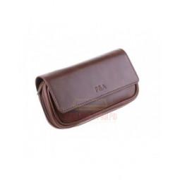 Сумка P&A для 2 трубок и табака, натуральная кожа Crazy Horse, подарочная упаковка \ 415-M