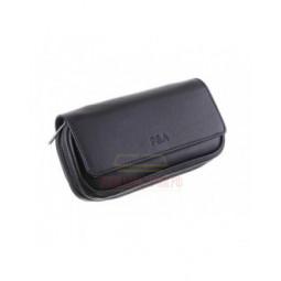 Сумка P&A для 2 трубок и табака, натуральная кожа, подарочная упаковка, черная \ 415-P