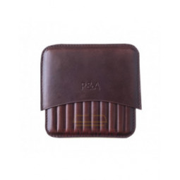 Сигаретница P&A на 10 штук, натуральная кожа Crazy Horse \ T114-Crazy-Horse