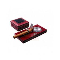 Пепельница сигарная Tom River с набором, Бордо \ 524-301