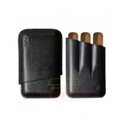 Футляр для сигар Colibri /3 Black Stitch/Ring-56/ Lth 90/125 \ CB C-10030CC