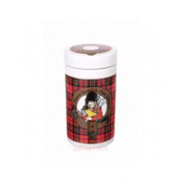 "Банка для табака Lubinski ""Шотландия"", керамика, красная \ DST02"
