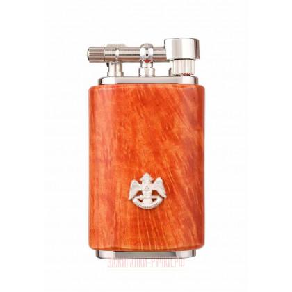 Зажигалка трубочная Mastro de Paja, серебро и бриар \ 1408